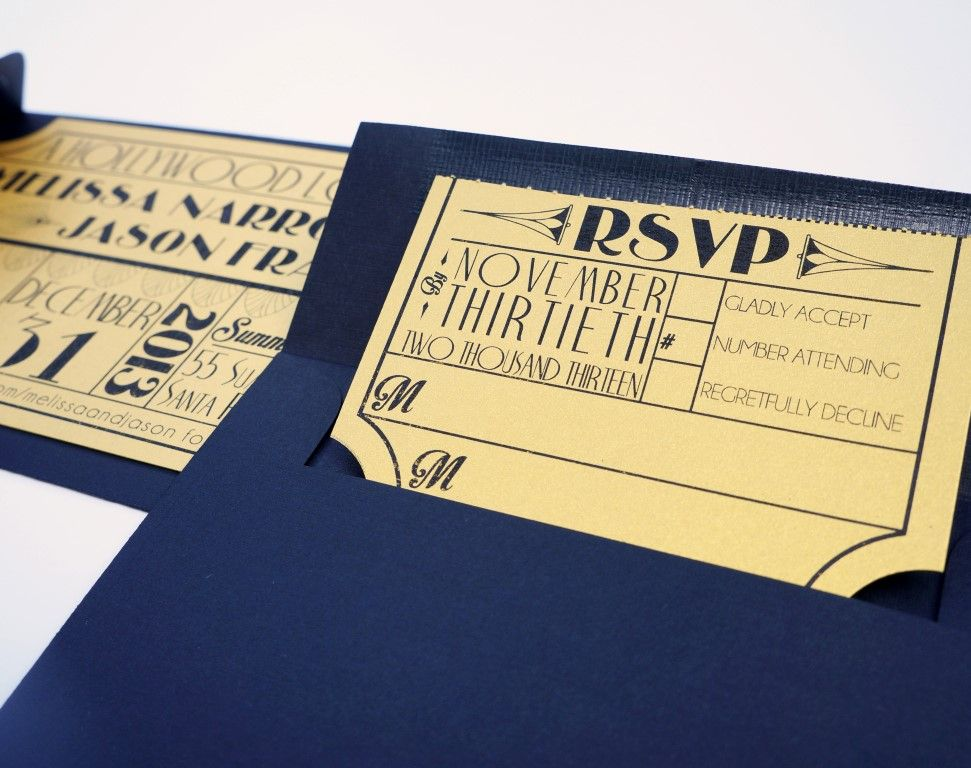wedding invitations film theme - Picture Ideas References