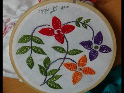 Hand Embroidery Designs 181 Spider Stitch Designs Youtube