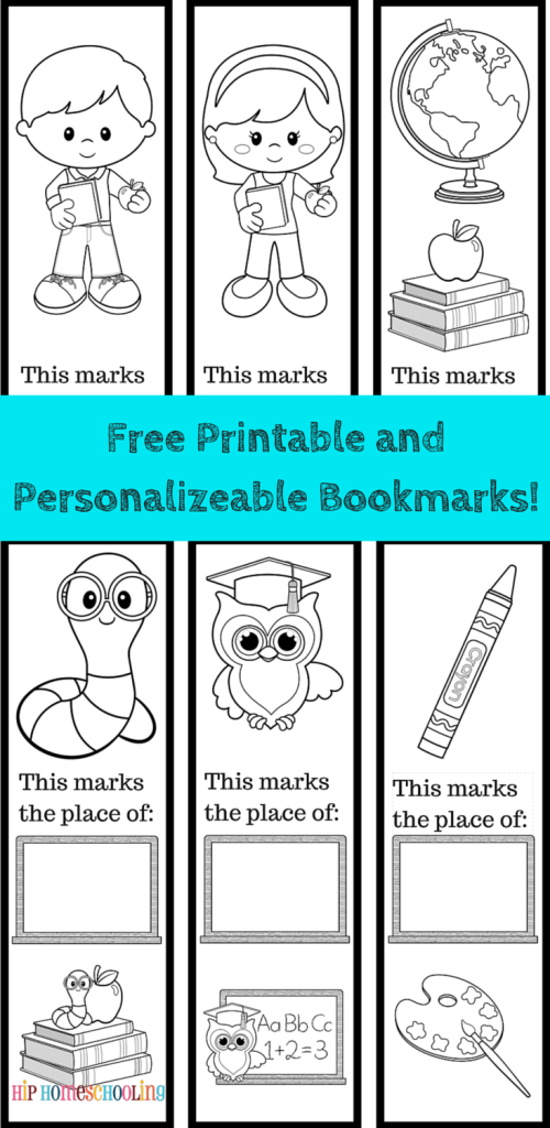 Free Printable Bookmarks to color and personlize! | Coloring Pages ...