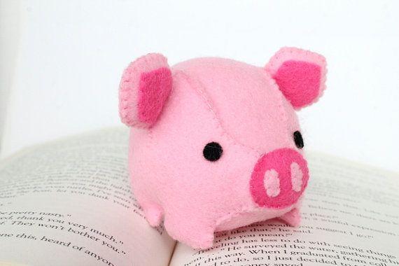 PDF Pattern  Felt Pig Plush
