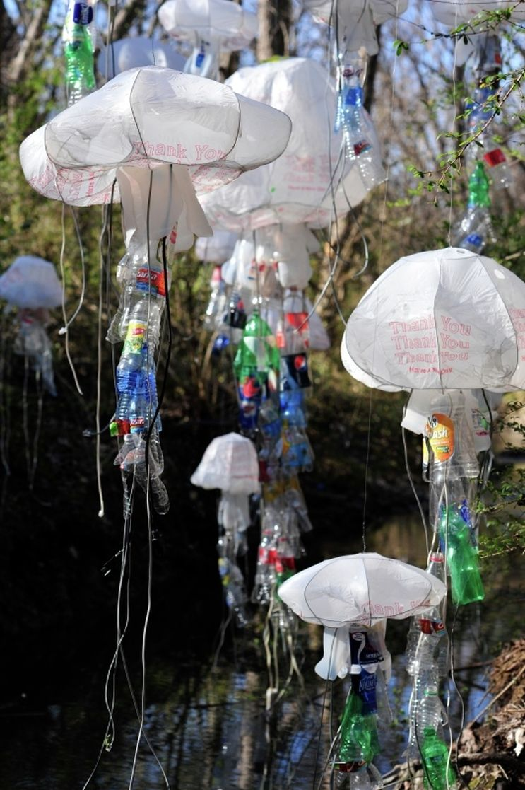 Scott Horn Jellyfish Art Recycl 233 Projets Recyclage