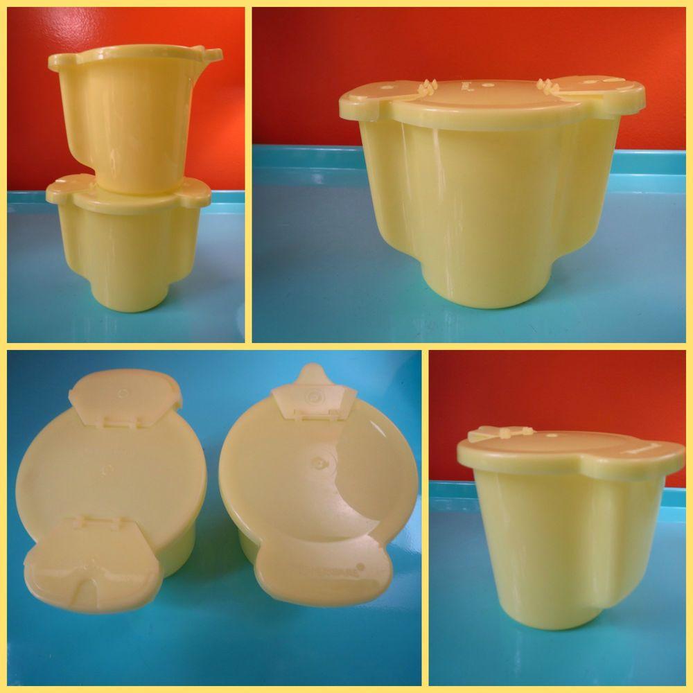 VTG 1970s Retro Tupperware Yellow Coffee Sugar 577 Creamer 574 Flip ...