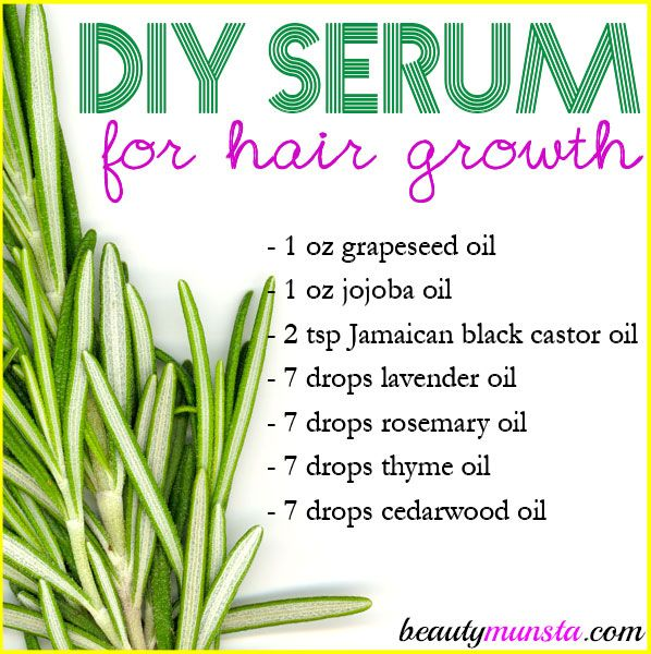 Homemade Serum for Hair Growth | For Longer Thicker Hair! - beautymunsta - free natural beauty hacks and more!
