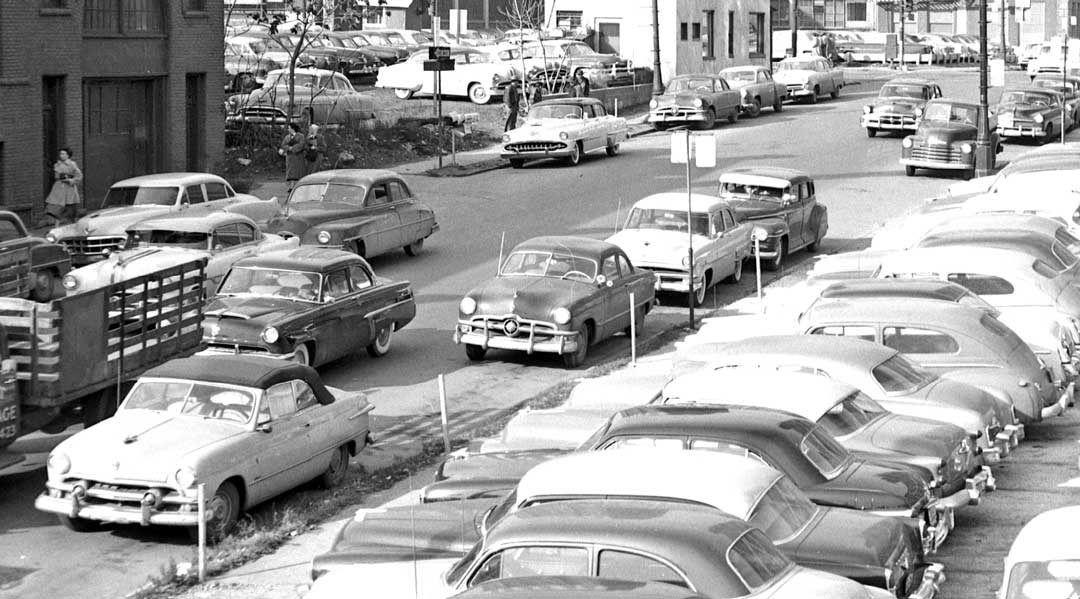 Parking Lot Series Detroit Street Scene and Parking