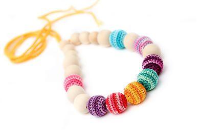 Nursing Necklace Crochet Nursing Jewelry Juniper Necklace