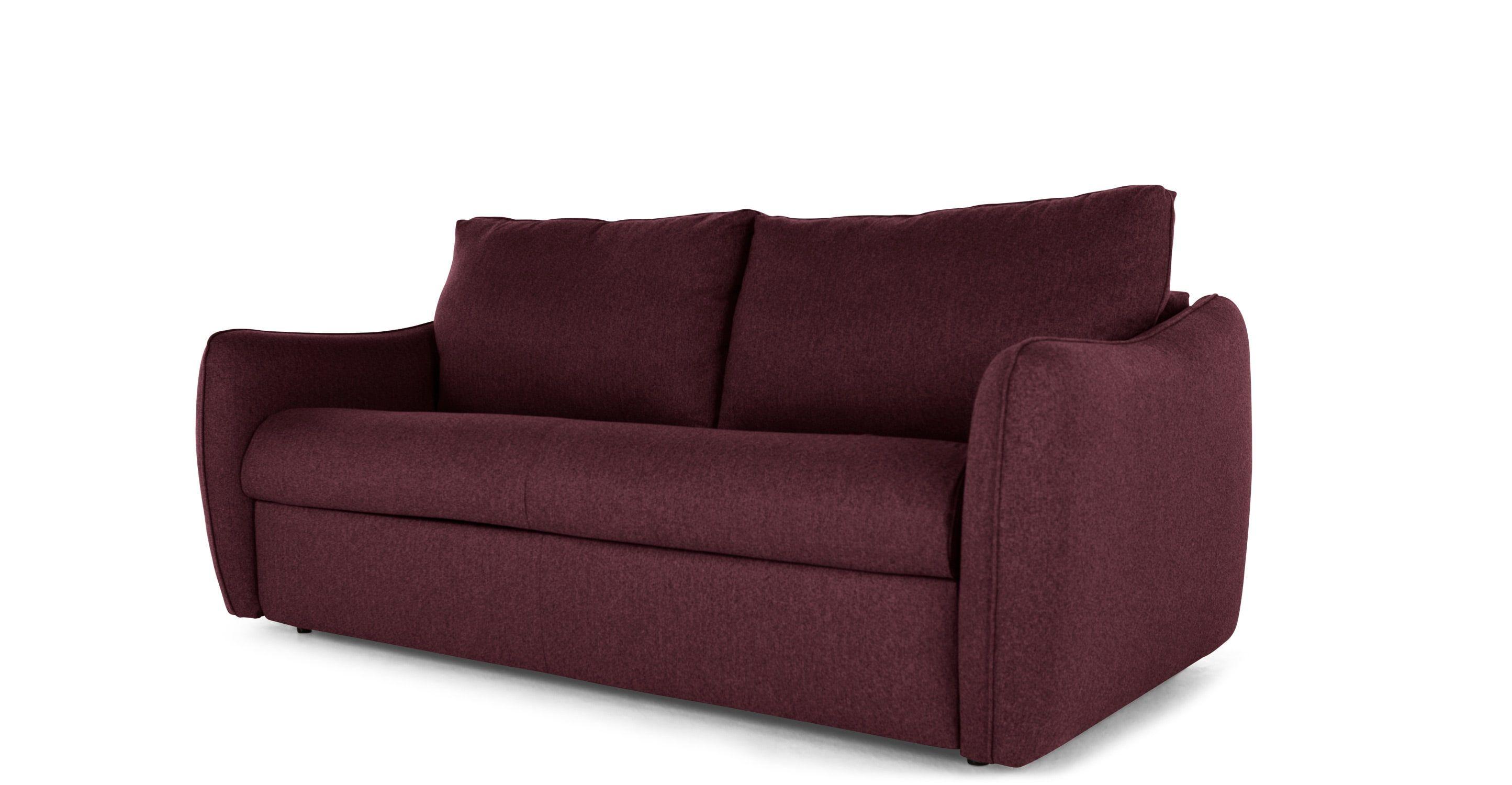 Jefferson Large Sofa Bed Tweed Malbec