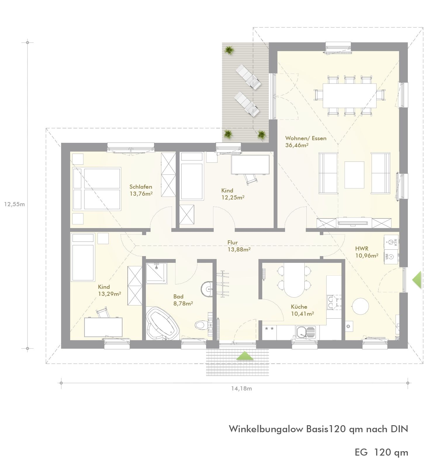 Einfamilienhaus Grundriss Bungalow Grundriss Bungalows h User