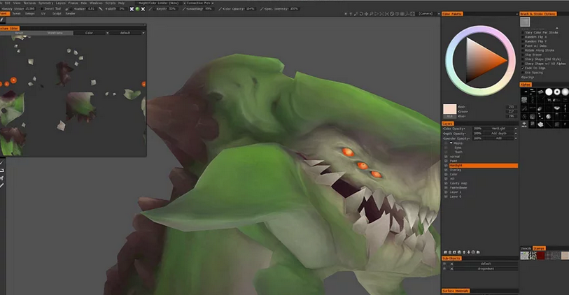 Video free lesson on how to hand paint textures on a 3D game