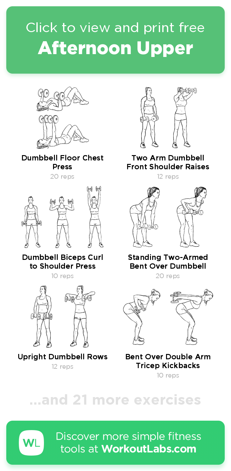 Afternoon Upper · Free workout by WorkoutLabs Fit