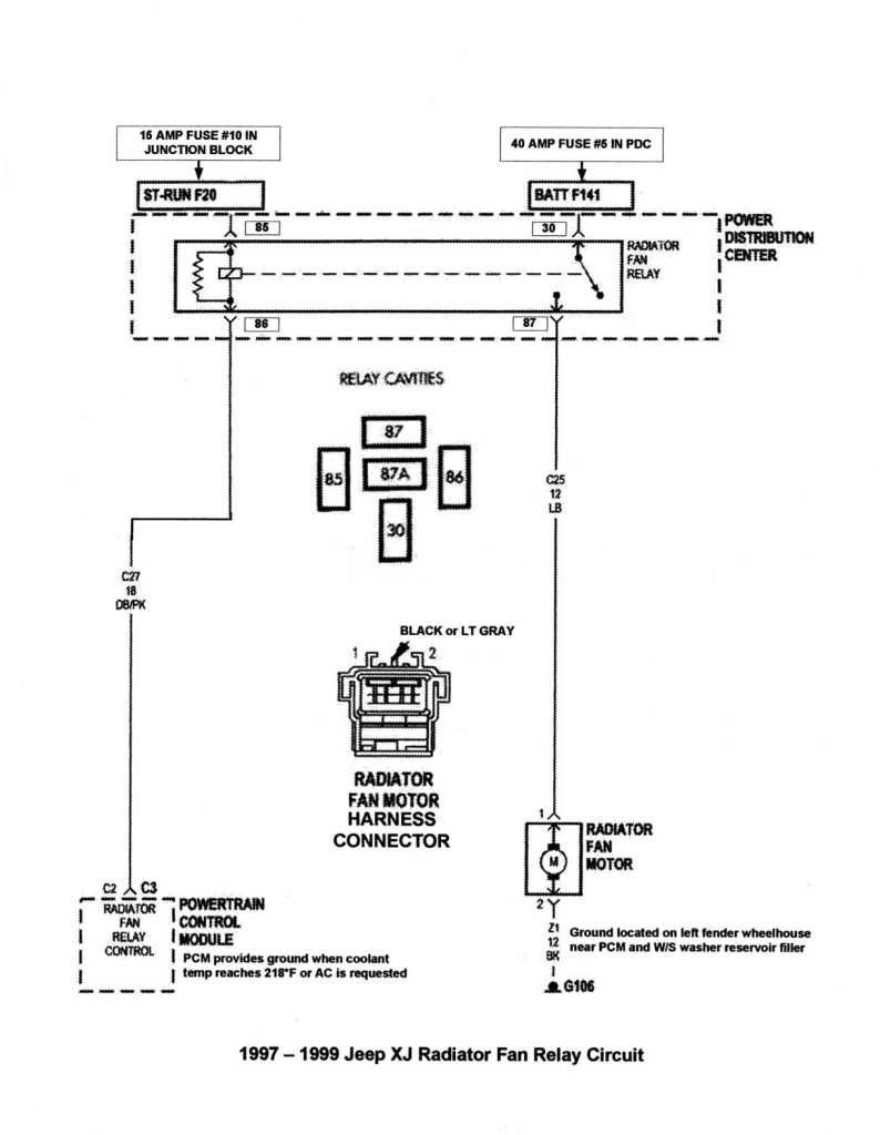 Resultado De Imagen Para Wj Electric Fan Wiring Diagram Cherokee Jeep Grand Fuse Further 1999 Relay