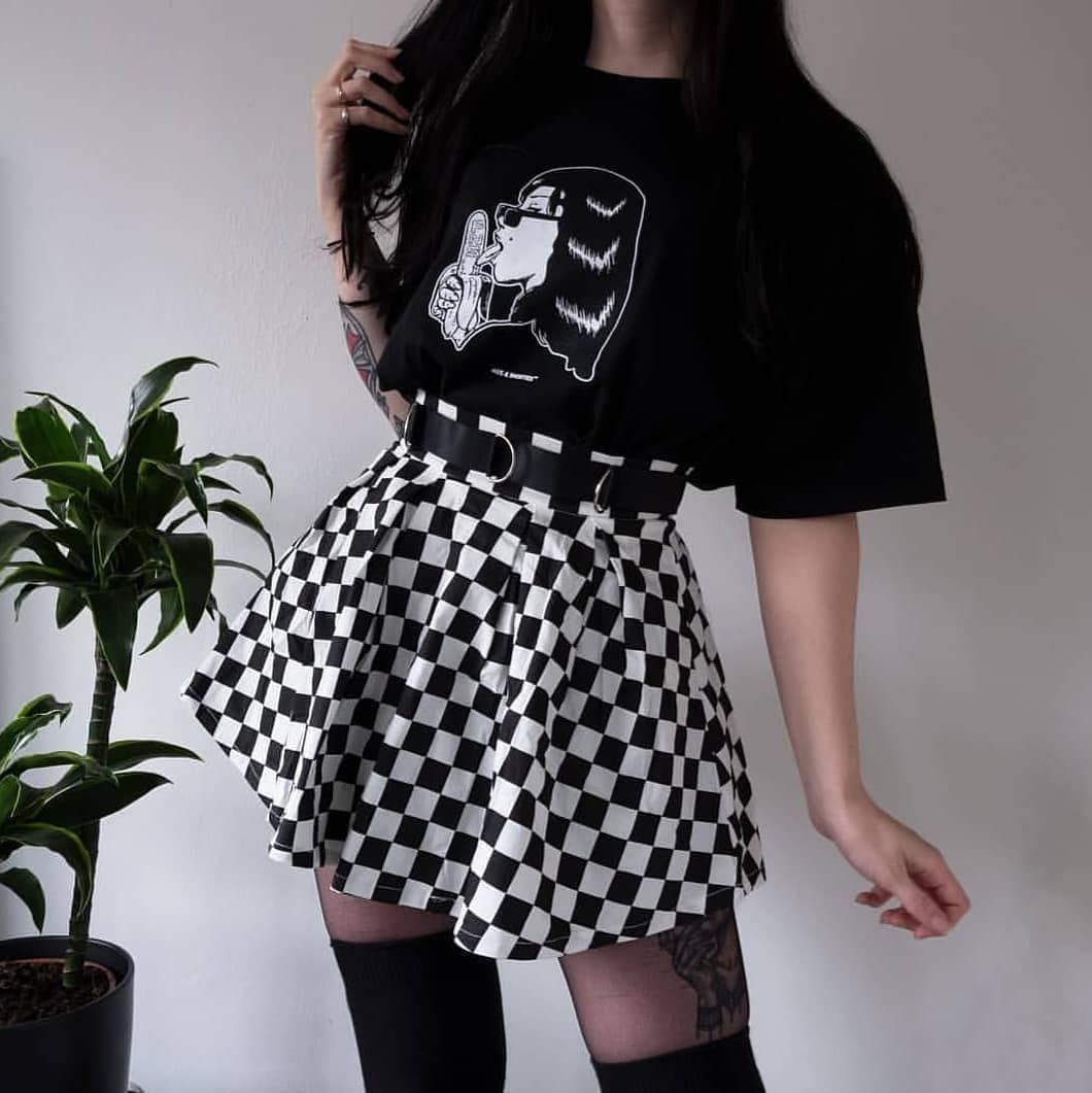 On Instagram Skirt With 1 2 O 3 Vy Ryhlana Grunge Style Styleoftheday Grungestyle In 2020 Egirl Fashion Fashion Inspo Outfits Edgy Outfits