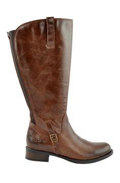 Jordana Super Plus Wide Calf® Boot (Brown) JJ Footwear