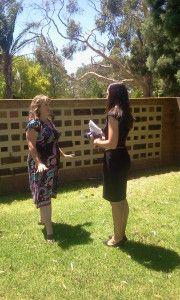 Kirrily Burton on Channel Nine News for Saving Graves South Australia