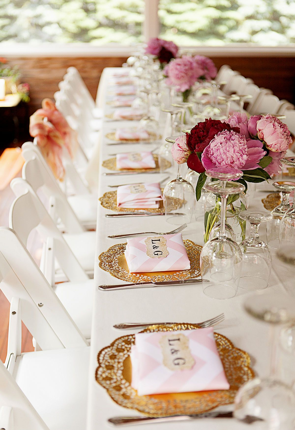 table setting ideas for engagement party | Elegant Reception ...