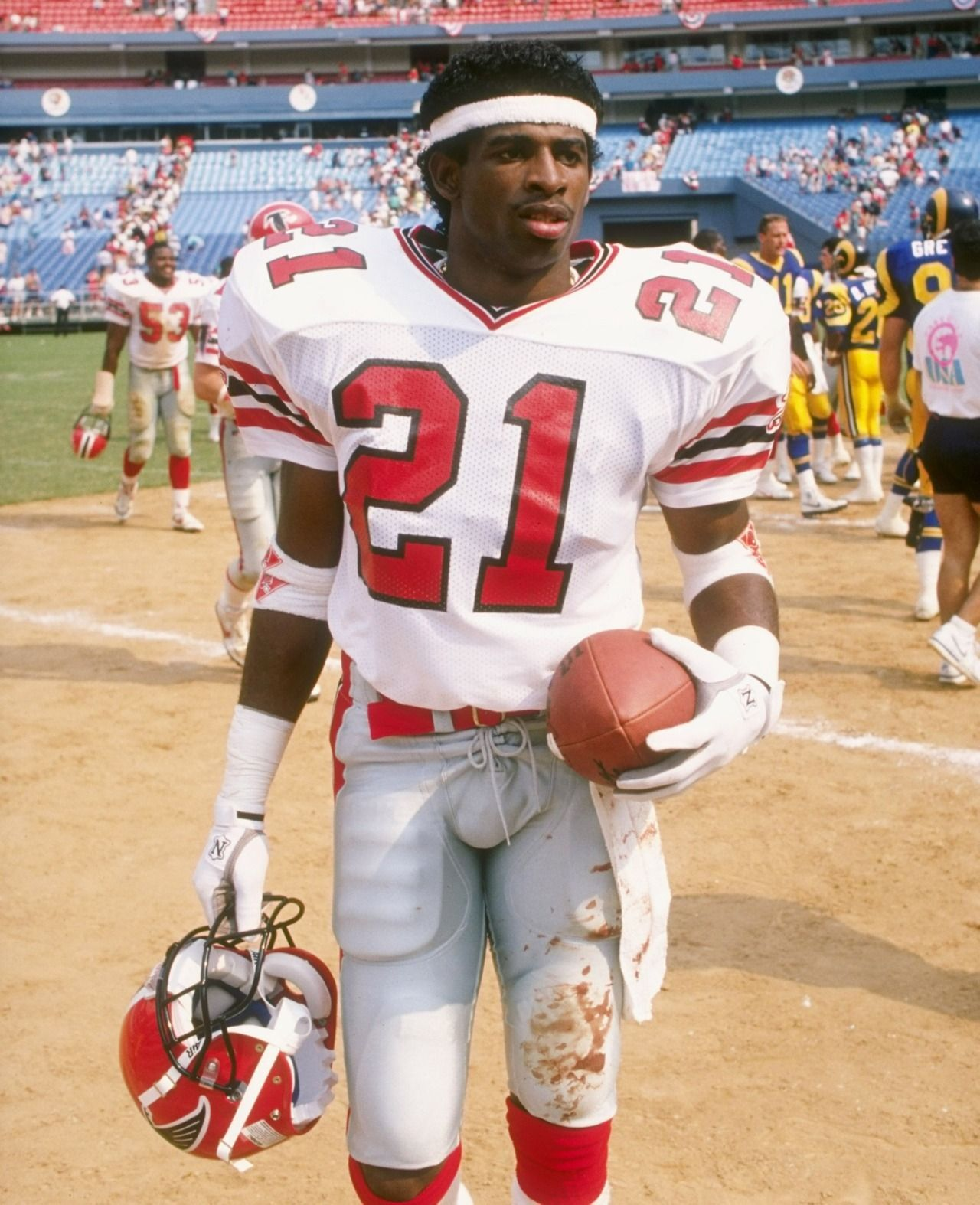 Deion Sanders Only Man To Play In A World Series N A Super Bowl Nflprimetime Atlanta Falcons Football Falcons Football Nfl Football Players
