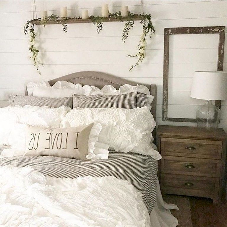76 Lovely Modern Farmhouse Bedroom Decor Ideas With Images