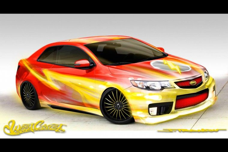 West Coast Customs Flash inspired Forte concept rendering cars