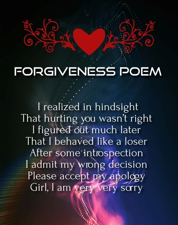 forgive me poems for boyfriends romantic poems for her