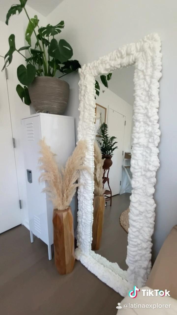 Foam Mirror Diy Video Diy Bedroom Decor Hipster Room Decor Diy Wall Decor