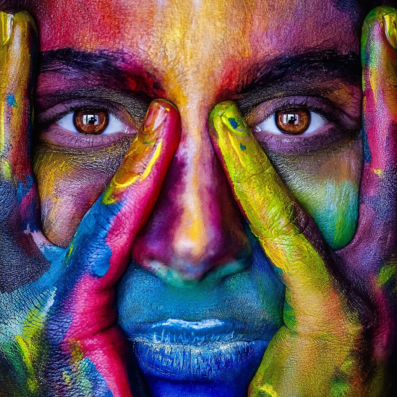 Free Image on Pixabay - Girl, Face, Colorful, Colors ...