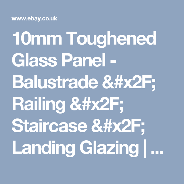Best 10Mm Toughened Glass Panel Balustrade Railing 400 x 300