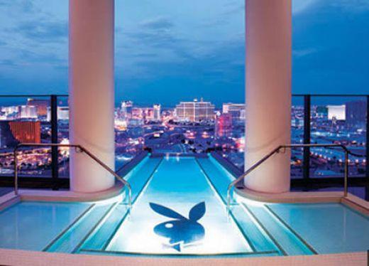 Playboy pool playboy club in las vegas palms hotel and - Playboy swimming pool ...