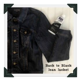 clearance sale biggest discount cheapest price Back to Black Jean Jacket--dye a faded jean jacket dark ...
