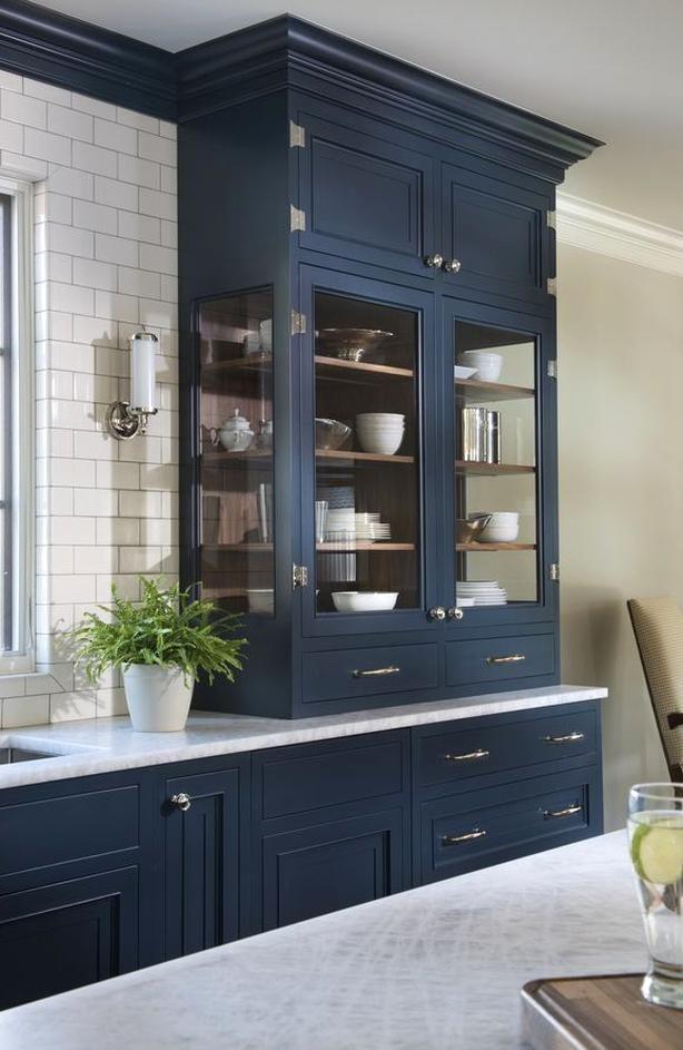 navy blue kitchen home bunch interior design ideas in 2020 cabinet design kitchen cabinet on kitchen decor navy id=61177