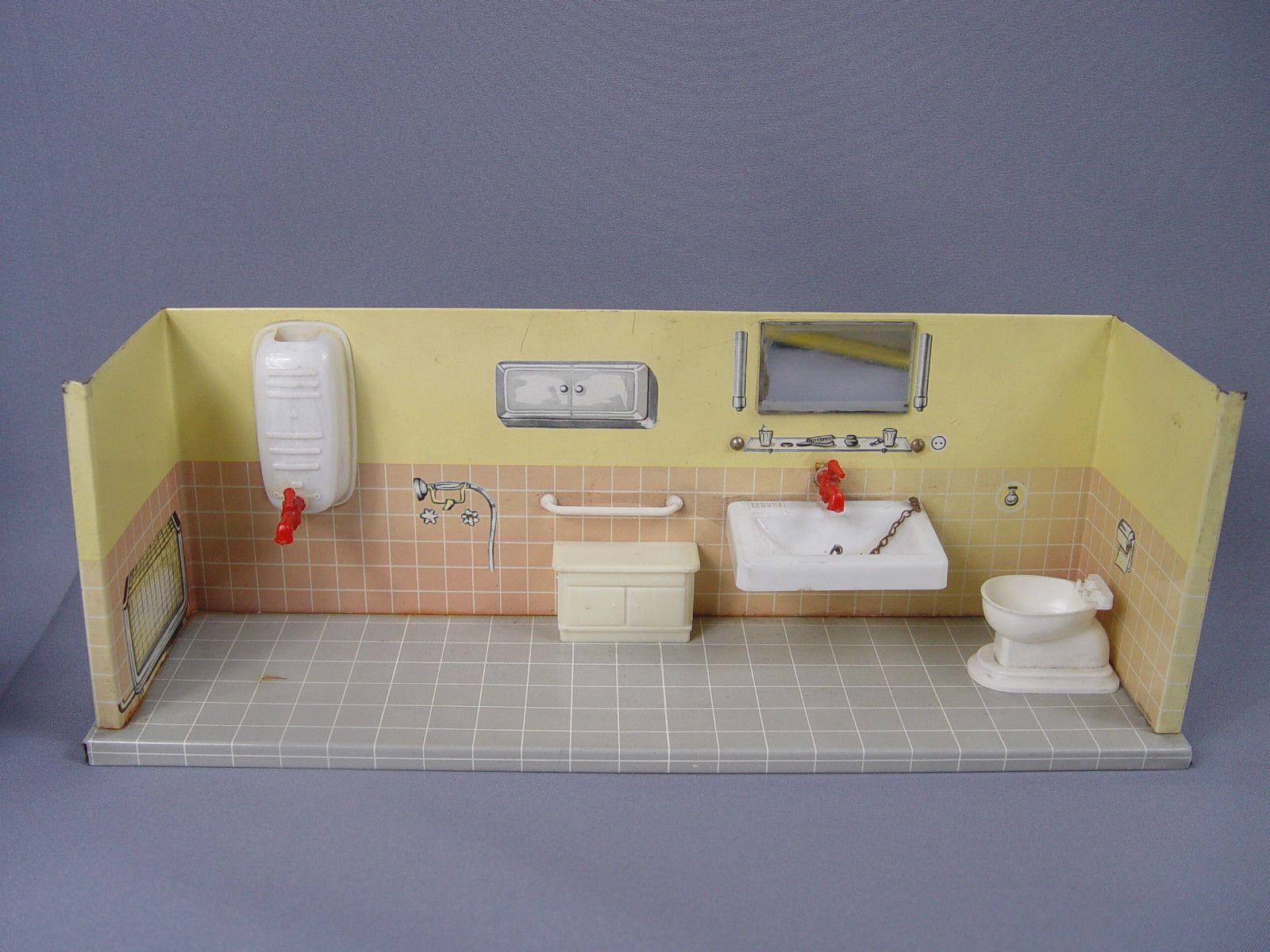 German metal bath with plastic fixtures. Missing tub ...