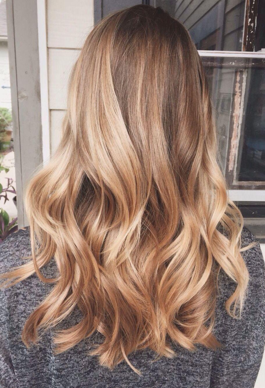 Highlights wavy hair gorgeoushair hair color ideas pinterest