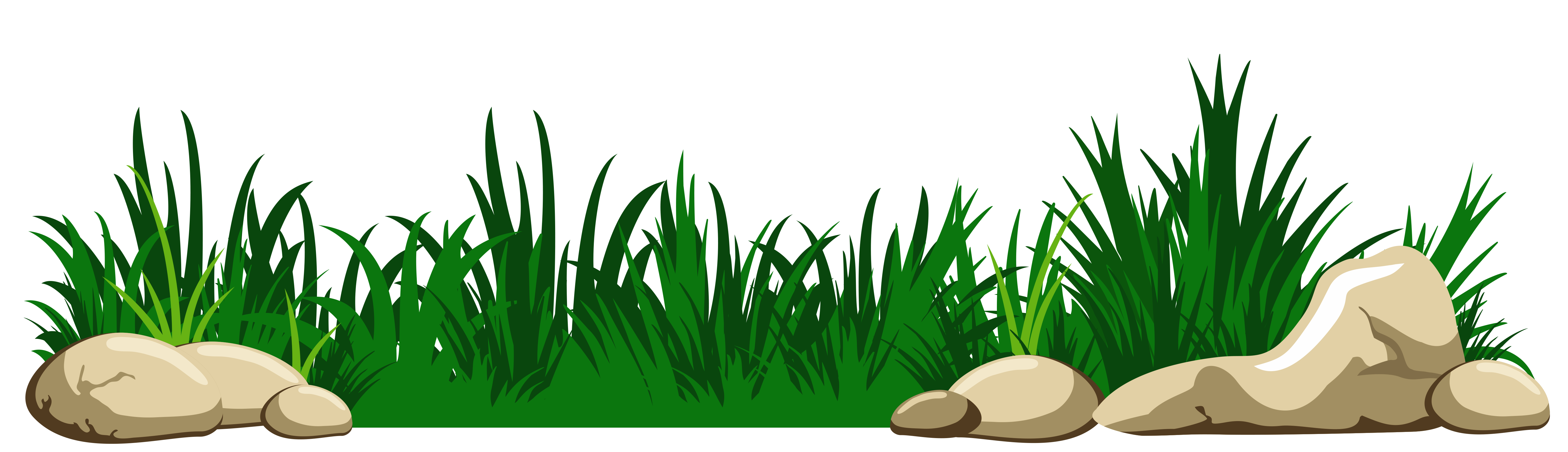 Grass with Rocks Transparent PNG Clipart Grass clipart