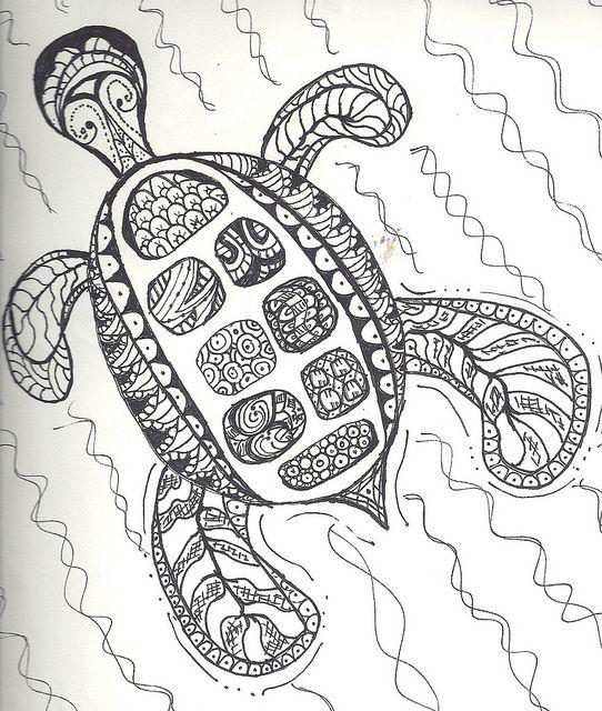 zentangle turtle by Lisa Wilkinson