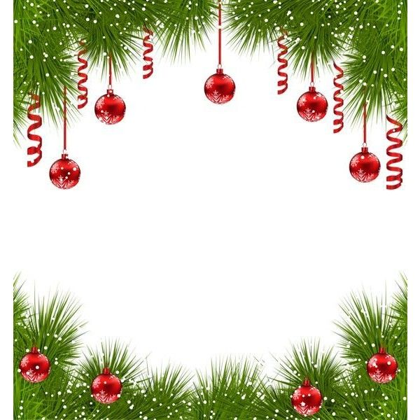 Christmas Transparent PNG Frame With Red Ornaments Liked On Polyvore Featuring Home Decor Holiday Decorations