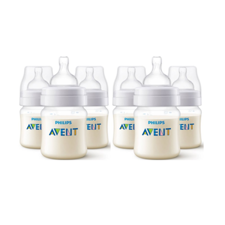 Frugal New Lot Of 4 Phillips Avent Natural Baby Clear Bottles Bpa Free 4oz Baby