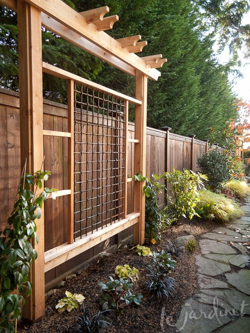 Ideas For Trellis In Garden Part - 19: Updated Trellis Structures Transformed This Space | Bella Vista Gardens |  Pinterest | Spaces, Gardens And Yards