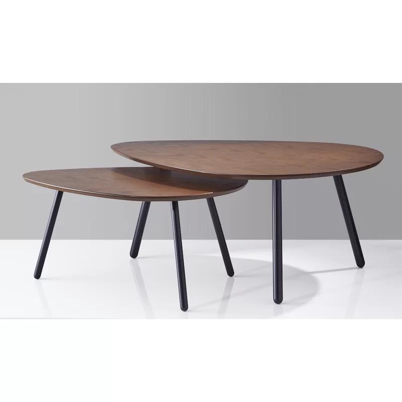 Best Irvin Nesting 2 Piece Coffee Table Set In 2020 Round 400 x 300