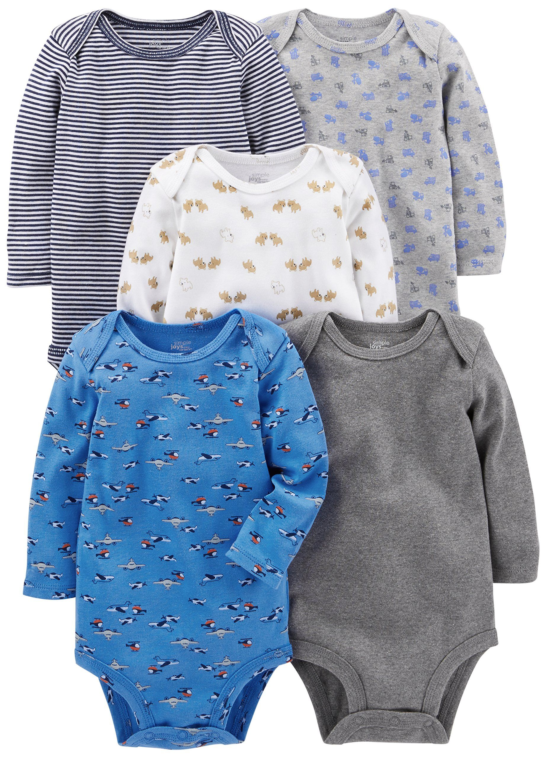 Simple Joys by Carters Baby Boys 5-Pack Long-Sleeve Bodysuit