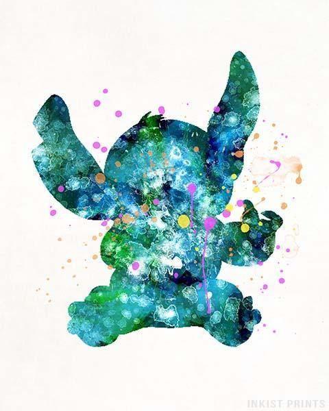 Stitch Print Stitch Poster Stitch Art Disney Print Lilo | Etsy