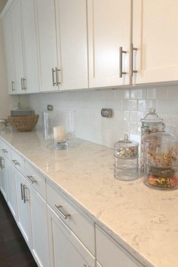 White Kitchen With Viatera Minuet Quartz Countertops Hello