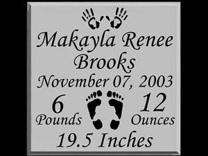 Personalized baby announcement vinyl nursery decal tile wall vinyl decals for tiles personalized baby announcement vinyl nursery decal tile wall sticker negle Choice Image