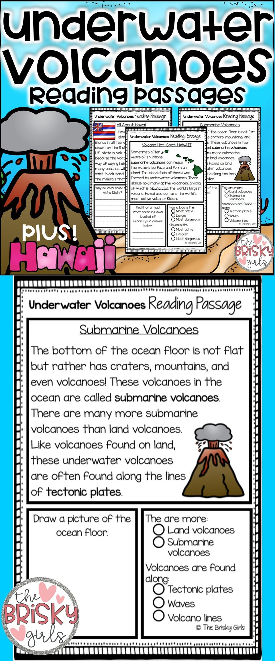 Volcanoes Volcano Information Volcano Reading Passages The Ring Of Fire Tectonic Plates Science For K Reading Passages Volcano Projects Volcano Activities [ 2304 x 960 Pixel ]