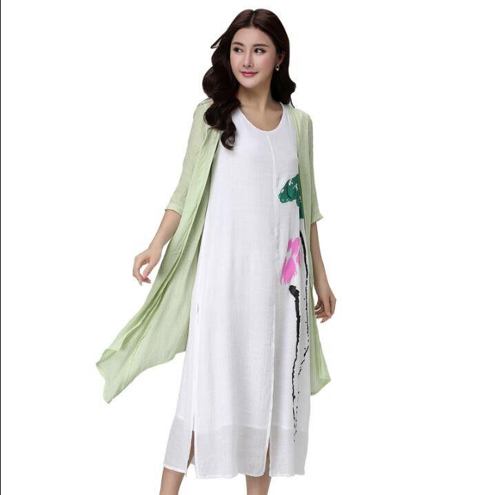 5xl 4xl Summer Dresses Plus Size 2pcs Trationals Chinese Dress Half