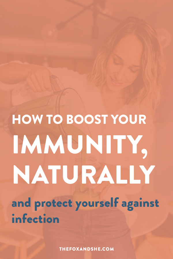 Looking for how to boost your immune system naturally? We can easily strengthen our immune system with small changes at home. These immune system boosters are easy to implement and have a lasting-impact on your health. Click through for more immune support and healthy living tips! #healthyliving #holisticwellness #naturalliving
