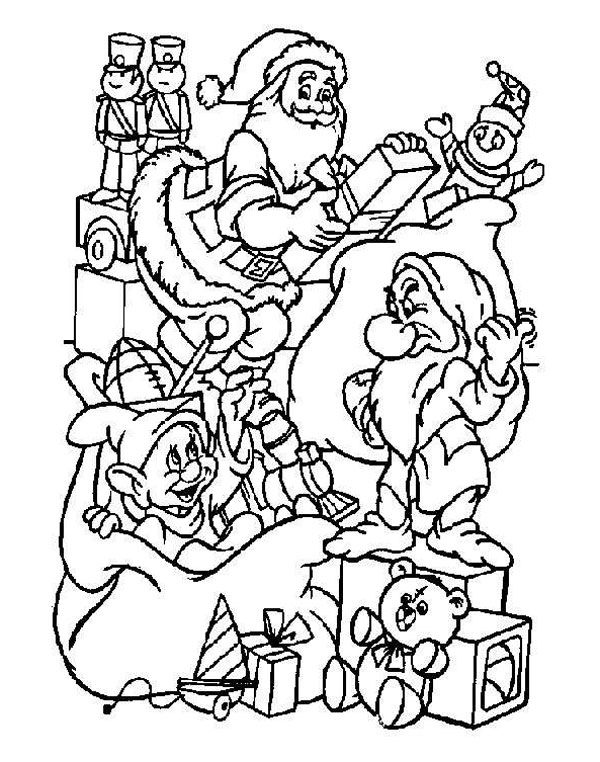 Dibujos de navidad para colorear de disney dibujos de - Dibujos navidenos para imprimir y colorear ...