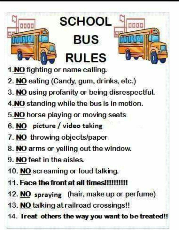 School Bus Rules