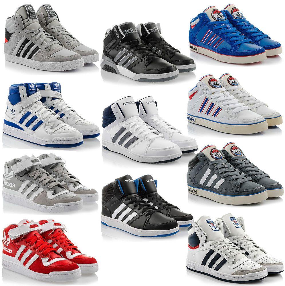 Adidas Sport Schuhe Trainers Boots Shoe super hoops mid Schwarz Herren