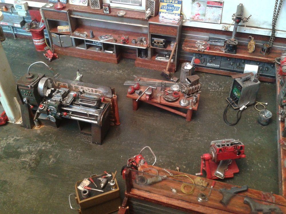 Machine shop 1/25 scale Model cars building, Scale
