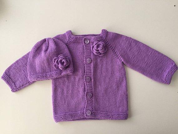 9905ed03e Purple Baby Cardigan
