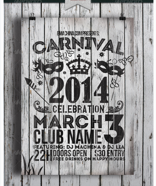 Carnival Celebration Flyer Template  Party Flyer Templates For