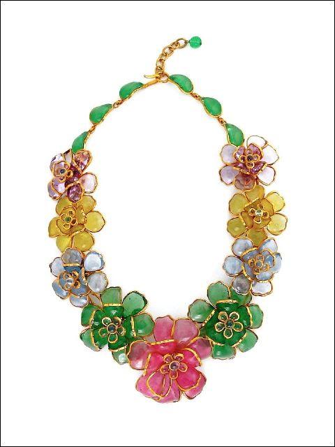 Chanel Flower Gripoix Necklace